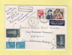 Lettre De Villers Les Nancy Reexpediee Avec Nouvel Affranchissement Vers Madagascar - 1971 - Trouve A La Boite - 1961-....