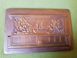 Médaille Bronze 50ème Anniversaire Du Chemin De Fer Du Bas-Congo 1898-1948 Signée Dupagne - Professionali / Di Società