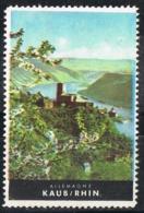 Viñeta Turistica KAUB (Rhin) Renania Palatinado, Germany. Label, Cinderella Tourism ** - [7] República Federal