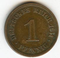 Allemagne Germany 1 Pfennig 1911 G J 10 KM 10 - 1 Pfennig