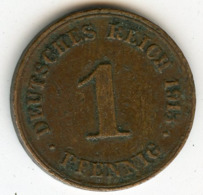 Allemagne Germany 1 Pfennig 1913 D J 10 KM 10 - 1 Pfennig