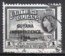 Guyana 1966 Single 1c Stamp From The British Guiana Definitive Series Overprinted For Guyana. - Guyana (1966-...)