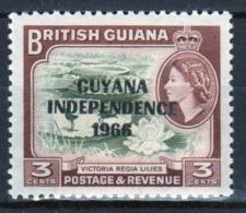 Guyana 1966 Single 3c Stamp From The British Guiana Definitive Series Overprinted For Guyana. - Guyana (1966-...)