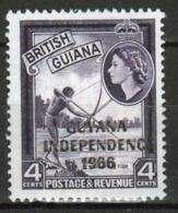 Guyana 1966 Single 4c Stamp From The British Guiana Definitive Series Overprinted For Guyana. - Guyana (1966-...)