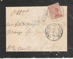 Orria. 1927. Annullo Frazionario (57 - 135), Su Lettera Affrancata Con C. 60 - 1900-44 Victor Emmanuel III