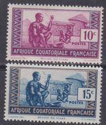 """A. E. F.  N° 191 / 92 XX  Timbres Sans """"RF"""" Partie De Série, Les 2 Valeurs Sans Charnière, TB - Neufs"""