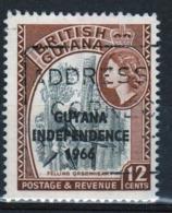 Guyana 1966 Single 12c Stamp From The British Guiana Definitive Series Overprinted For Guyana. - Guyana (1966-...)