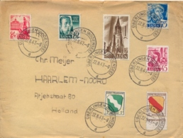 Germany 1947 Baden Cover From Űberlingen To Netherlands With 12 + 24 + 45 + 75 Pf. + 1 M. + French Zone 1 + 8 Pf - Zone Française