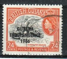 Guyana 1966 Single 24c Stamp From The British Guiana Definitive Series Overprinted For Guyana. - Guyana (1966-...)