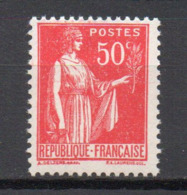 - FRANCE N° 283g Neuf ** MNH - 50 C. Rose-rouge Type Paix IV - Cote 35 EUR - - 1932-39 Peace