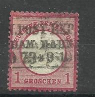 """Deutsches Reich 19 """"1 Groschen -Briefmarke, Großes Brustschild  """" Gestempelt  Mi.:8,00 - Deutschland"""