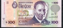 URUGUAY PP85a 100 P.U.  2003  Serie D  UNC. - Uruguay
