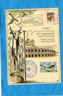 """Carte Postale-Illustrée -NIMES- Cad 1961+flamme """"féria De Pentecote"""" - Marcophilie (Lettres)"""