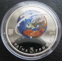 60th Anniversary Of Earth's First Satellite Launch Ukraine 2017 Coin , 5 UAH - Ukraine