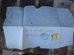 Genlis Cachet Type 15 Petit Chiffre  Sur Empire 10 C Marron Non Dentele - Storia Postale