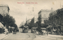 Montevideo Avenida 18 De Julio  Tram - Uruguay