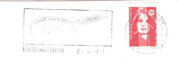 CACHET OBLITERATION FLAMME BESSIERES OMELETTE GEANTE   ENVELOPPE 16X11 - Marcophilie (Lettres)