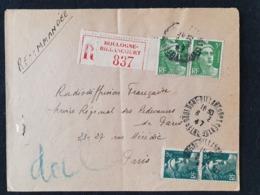 Recommandé BOULOGNE BILLANCOURT - 6 Février 1947 - Gandon YT 713 719 - Seine - Marcophilie (Lettres)