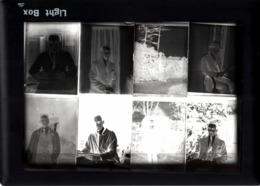 Lot De 8 Plaques De Verre Négatifs Originaux Portrait De André Le Gay Vers 1930 - Diapositiva Su Vetro