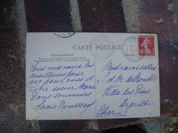 Soulesmes Cachet Perle Facteur Boitier Obliteration Sur Lettre - 1877-1920: Periodo Semi Moderno