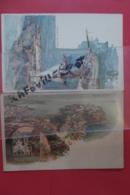 Cp Monaco Vue Vallon Et Chapelle  + Port Signe Wielandt Couleur  Lot 3 Cartes - Monaco