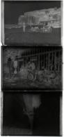 Lot De 3 Plaques De Verre Négatifs Originaux Voyage En Moto & Réparations En 1926 Sur Région Saint Valéry En Caux - Plaques De Verre
