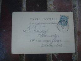 Sassenay Cachet Perle Facteur Boitier Obliteration Sur Lettre - Poststempel (Briefe)