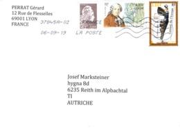 Auslands - Brief Von 69001 Lyon Mit € 1,32 Mischfrankatur 2019 - 2018-... Marianne L'Engagée