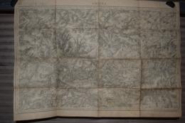 Carte Corps D'Etat-major Dépôt De La Guerre 1916 Amiens Arras 85 X 60 Cm - Documenti