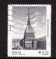 ITALIA REPUBBLICA ITALY REPUBLIC 2013 MOLE ANTONELLIANA TORINO € 0,70 USATO USED OBLITERE' - 6. 1946-.. Republic