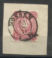 """Deutsches Reich 33 A-b """"10 Pfennige -Briefmarke, Reichsadler Im Oval (Farbe Unbestimmt)  """" Briefstück  Mi.:4,00 - Deutschland"""