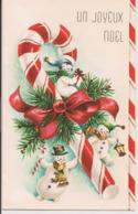 L120B666 - Joyeux Noel - Bonhommes De Neige Et Friandise - Carte Ouvrante Imprimée Au Canada - Unclassified