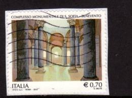ITALY REPUBLIC ITALIA REPUBBLICA 2013 PATRIMONIO ARTISTICO COMPLESSO MONUMENTALE S. SOFIA BENEVENTO € 0,70 USATO USED - 6. 1946-.. Republic