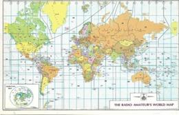 7-THE RADIO AMATEUR'S WORLD MAP(UTENTE  CERNUSCO S/ NAVIGLIO MILANO - CB
