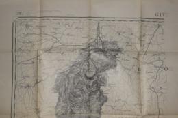 Carte Corps D'Etat-major Dépôt De La Guerre 1915 Givet 96 X 54 Cm - Documenti