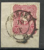 """Deutsches Reich 33 A-b """"10 Pfennige-Briefmarke, Reichsadler Im Oval (Farbe Unbestimmt)  """" Briefstück  Mi.:4,00 - Deutschland"""