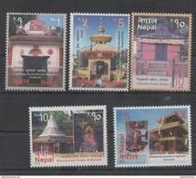 NEPA, 2016, MNH, TOURISM, VISIT NEPAL, TEMPLES,5v - Architecture