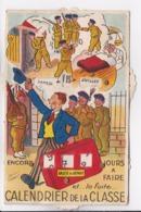 """CP SYSTEME  à MOLETTE  Calendrier De La Classe """" - Cartoline Con Meccanismi"""