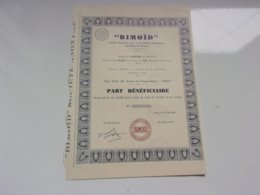 BIMOID Fabrication Bitume (1932) - Actions & Titres
