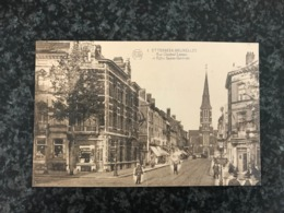 Brussels - Bruxelles - Etterbeek - Rue Général Leman Et Eglise Sainte-Gertrude - Etterbeek