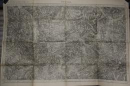 Carte Corps D'Etat-major Dépôt De La Guerre 1916 Epinal 85 X 60 Cm - Documenti