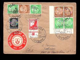 OSTROPA 1935 Ostpreussen 700 Jahre Stadt ELBING 1937 > Rotterdam A. Kooyman (878) - Zusammendrucke