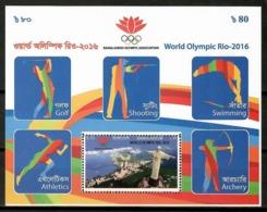 Bangladesh 2016 / Olympic Games Rio De Janeiro MNH Juegos Olímpicos Olympische Spiele / Cu13421  36-48 - Sommer 2016: Rio De Janeiro