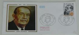 Enveloppe 1er Jour Léon Jouhaux,1979 - Marcophilie (Lettres)
