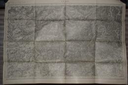 Carte Corps D'Etat-major Dépôt De La Guerre 1915 Lure 85 X 60 Cm - Documenti