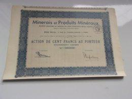 MINERAIS ET PRODUITS MINERAUX (1932) - Actions & Titres