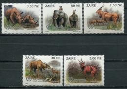 Zaire 1993 / Wild Animals Mammals MNH Mamiferos Salvajes Säugetiere / Cu5717  36-53 - Sellos
