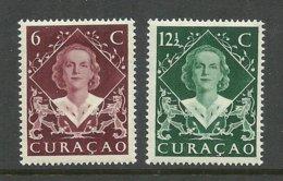 CURACAO 1948 Michel 286 - 287 Queen Juliana * - Curaçao, Antille Olandesi, Aruba
