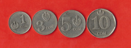 Kyrgyzstan. St Of 4 Coins - Kirguistán