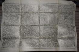 Carte Corps D'Etat-major Dépôt De La Guerre 1915 Laon 85 X 60 Cm - Documenti